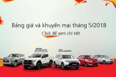 Bảng giá xe Mitsubishi tháng 05 – 2018.