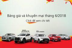 Bảng giá xe Mitsubishi tháng 06 – 2018.
