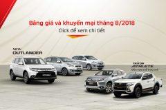 Bảng giá xe Mitsubishi tháng 08-2018.