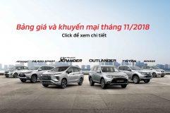 Bảng giá xe Mitsubishi tháng 11 – 2018